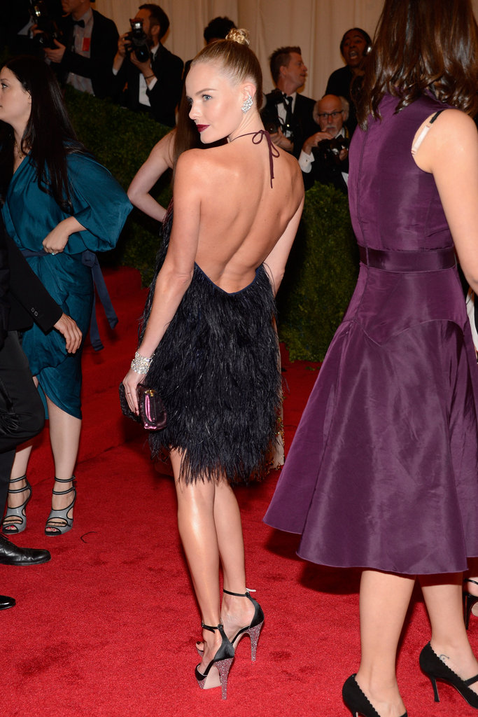 Kate Bosworth shows off her back in Prada.
