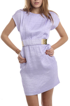 A beautiful dress option for upcoming weddings and hot Summer dates. Phillip Lim Belted Bib Dress in Lilac ($337, originally $675)