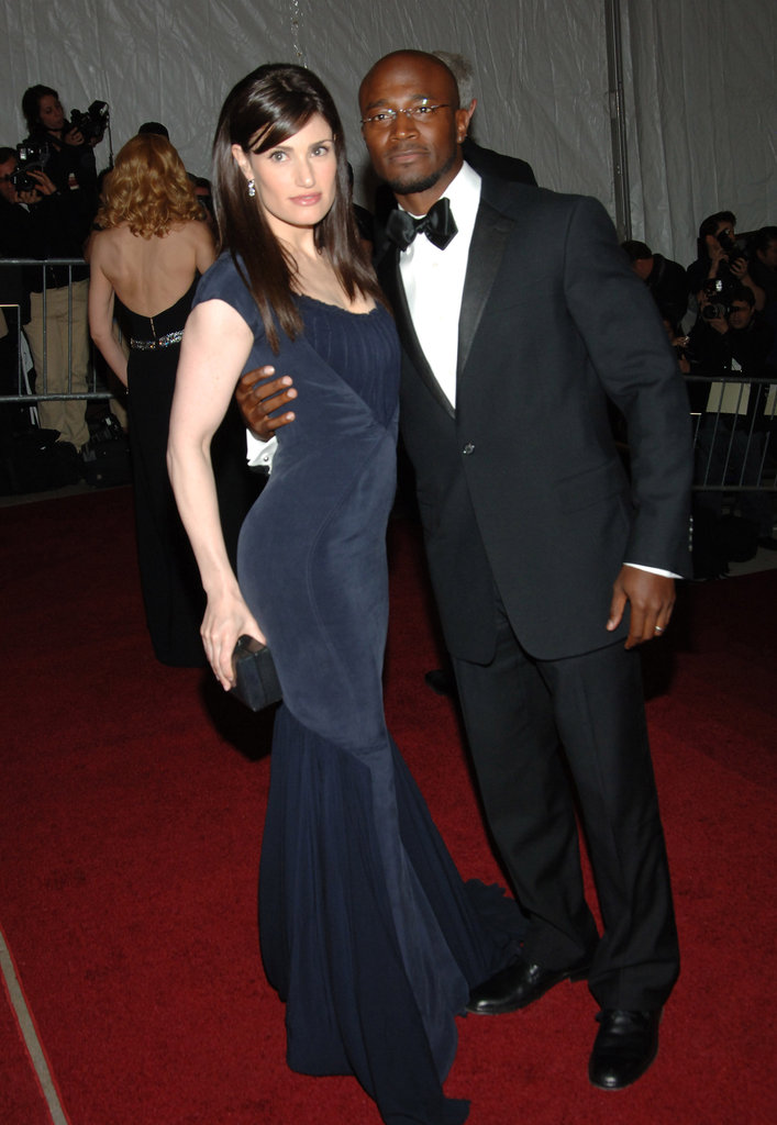 Idina Menzel and Taye Diggs in 2007
