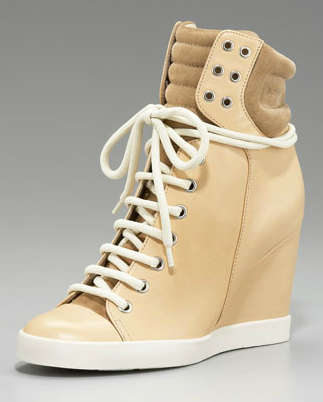 See by Chloe High-Top Wedge Sneaker ($375)