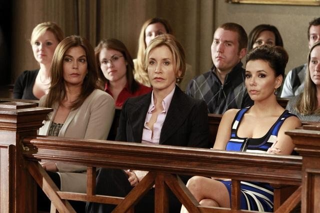 Teri Hatcher as Susan, Felicity Huffman as Lynette, and Eva Longoria as Gaby on Desperate Housewives. Photo courtesy of ABC