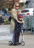 Kate Hudson and eldest son Ryder Robinson took a scooter ride together through NYC in April 2010.