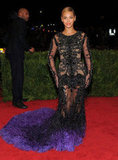 Beyoncé Knowles arrived at the Met Gala in a Givenchy dress.
