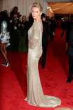 Cameron Diaz wore a  Stella McCartney beaded gown to the Met Gala.