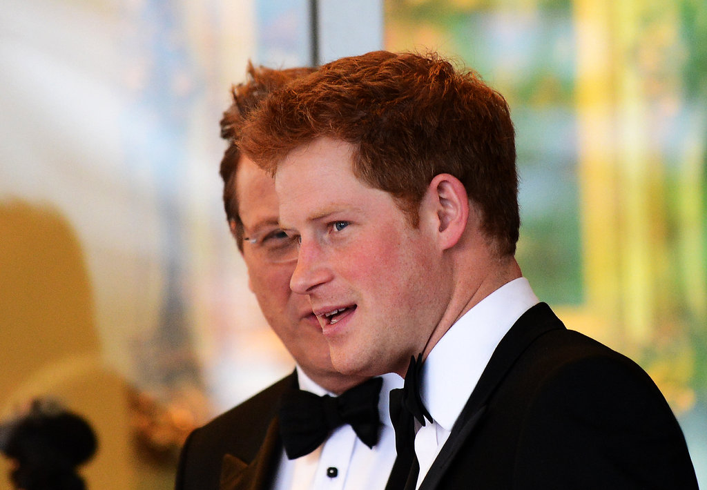 Prince Harry chatted a gala hosted by the Atlantic Council where he accepted the Distinguished Humanitarian Leadership Award.