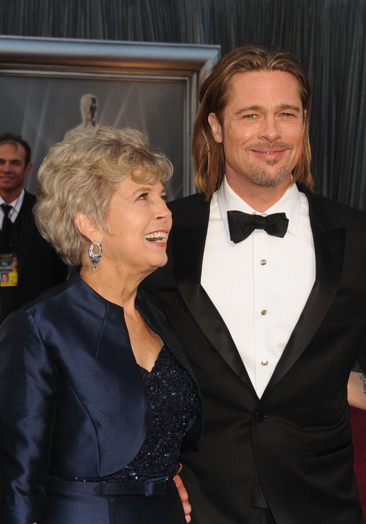Brad Pitt brought his mother, Jane, along on the red carpet at the 2012 Oscars.
