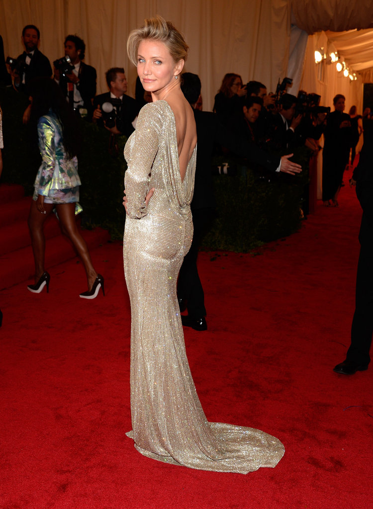 Cameron Diaz posed at the Met Gala.