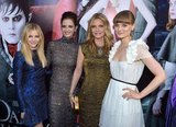 Michelle Pfeiffer, Bella Heathcote, Chloe Moretz, and Eva Green linked up at the LA premiere of Dark Shadows.