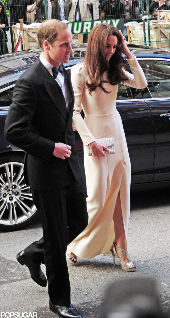 Kate Middleton and Prince William arrived at Claridge's in London.