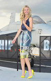 Brooklyn Decker was on an aircraft carrier in April 2012 to promote Battleship around Japan.