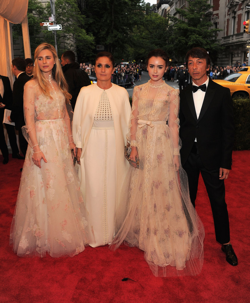 Valentino designers Maria Grazia Chiuri and Pier Paolo Piccioli made princesses out of actress Lily Collins and Brit Marling.