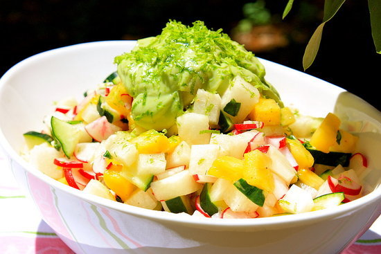 Jicama, Pineapple, and Radish Salad
