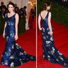 Pictures of Bee Shaffer in Blue Erdem Dress on the Red Carpet at the 2012 Met Costume Institue Gala