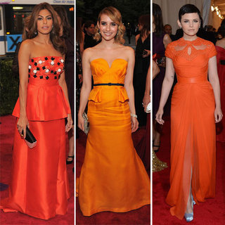 Red Carpet Met Gala Trend: Orange Gowns As Worn by Emma Roberts, Kristen Wiig, Ginnifer Goodwin & more!