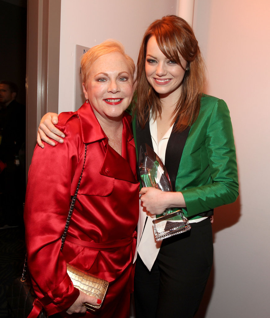 Emma Stone and her mom, Krista, attended the 2012 People's Choice Awards together at LA's Nokia Theatre in January 2012.