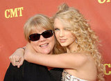 Taylor Swift gave her mum, Andrea, a hug on the red carpet prior to the CMT Music Awards in April 2007.
