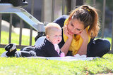 Jessica Alba doted on youngest daughter Haven Warren during a day at an LA park in March 2012.