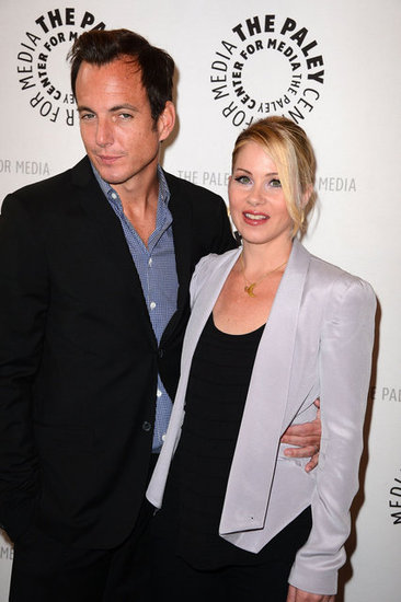 Will Arnett put an arm around Christina Applegate.