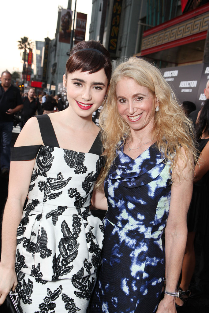 Lily Collins brought her mom, Jill, to the September 2011 Hollywood premiere of Abduction.