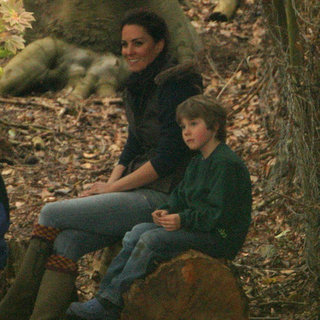Kate Middleton Camping With Lupo Pictures