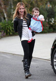 Sarah Michelle Gellar took daughter Charlotte Prinze trick-or-treating in their LA neighborhood in October 2010.