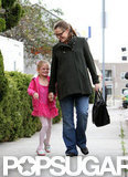 Jennifer Garner giggled with daughter Violet Affleck after leaving ballet class in April 2012.