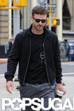Justin Timberlake was out and about in NYC enjoying a coffee.