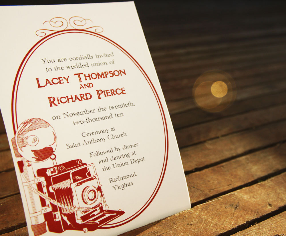 Vintage Camera Invitation Design ($35)