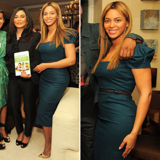 Beyonce in Blue Roland Mouret Dress