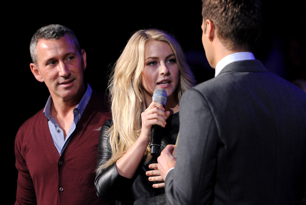 Julianne Hough joined her real-life love, Ryan Seacrest, on stage.