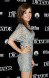 Isla Fisher posed on the red carpet at the premiere of The Dictator.