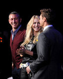 Ryan Seacrest joked around with his girlfriend Julianne Hough.