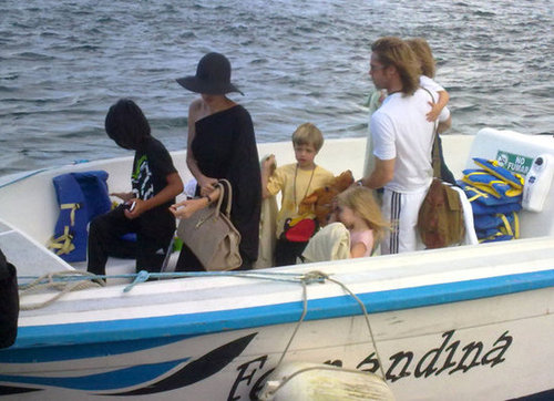 Brad Pitt and Angelina Jolie visited the Galapagos Islands with all six kids in April 2012 following the exciting news of their engagement.