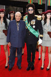 Mohammed Al Fayed and Sacha Baron Cohen stood together on the red carpet for the premiere of The Dictator.