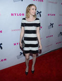Emma Roberts smiled for the cameras on the red carpet.