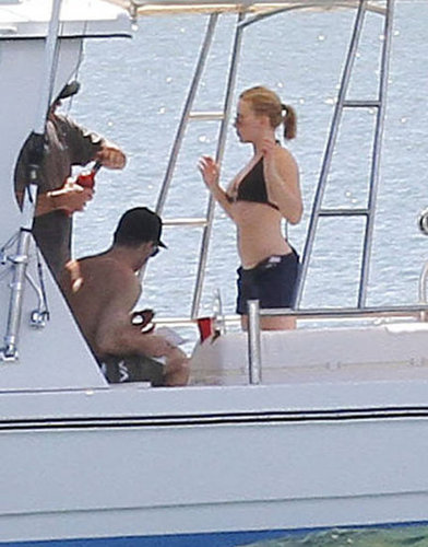 Scarlett Johansson took a romantic cruise off the coast of Hawaii with boyfriend Nate Naylor on Valentine's Day 2012.