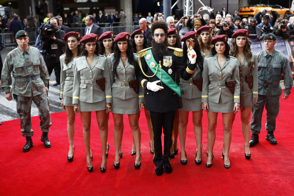 Sacha Baron Cohen attended the premiere of The Dictator at the Royal Festival Hall in London.