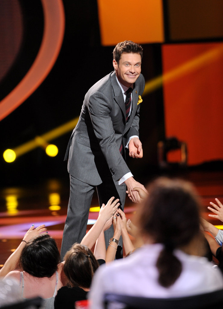 Ryan Seacrest greeted the audience members.