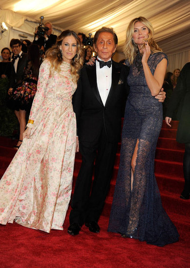 Sarah Jessica Parker, Valentino Garavani, and Heidi Klum