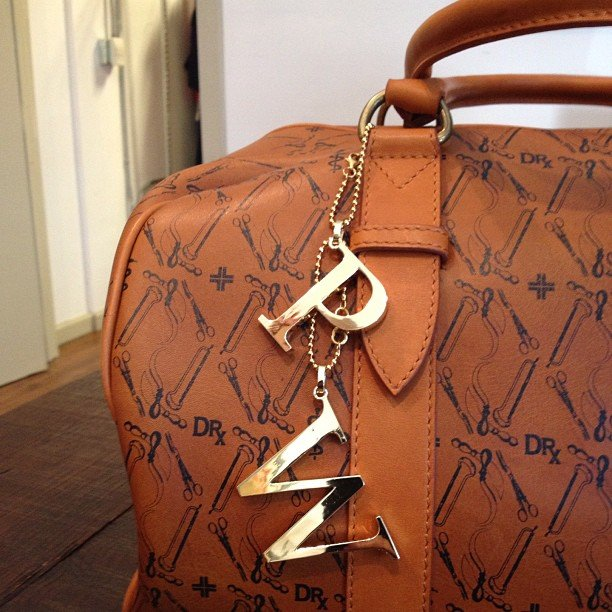 Pete Wentz showed off the initial bling on his bag.  Source: Instagram user petewentz