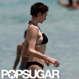 Anne Hathaway hung out with her mom on Miami beach.