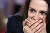 Kristen Stewart wore rings.