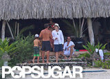 Orlando Bloom relaxed in Bora Bora.