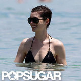 Anne Hathaway went for a swim in Miami.