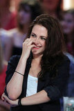Kristen Stewart appeared on a French talk show.