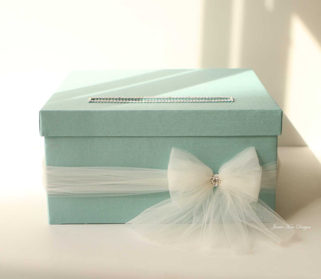 Turquoise Wedding Card Box