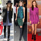 Let Isabel Lucas inspire you to try out these fierce dress and boots combos.