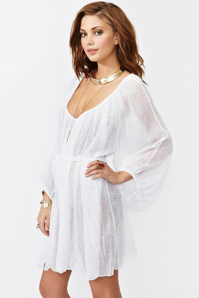 This gauzy dress has the ultimate bohemian-chic vibe.  Nasty Gal California Dreamin' Dress ($48)