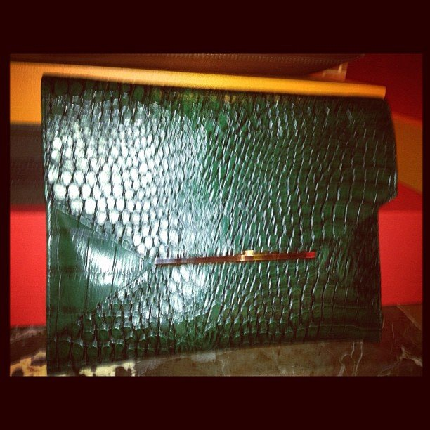 We spotted this luxe-looking clutch (for less!) at Target's Fall preview.