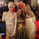 Karolina Kurkova, Jessica Alba, and Rachel Zoe made a styled trio at the Met Gala.